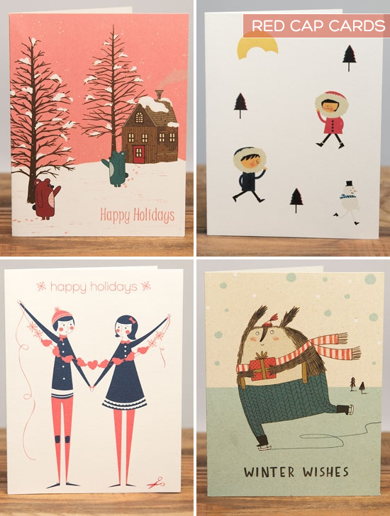 Red Cap Cards Christmas Cards