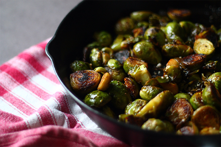 Perfectly Roasted Brussels Sprouts from Squirrelly Minds
