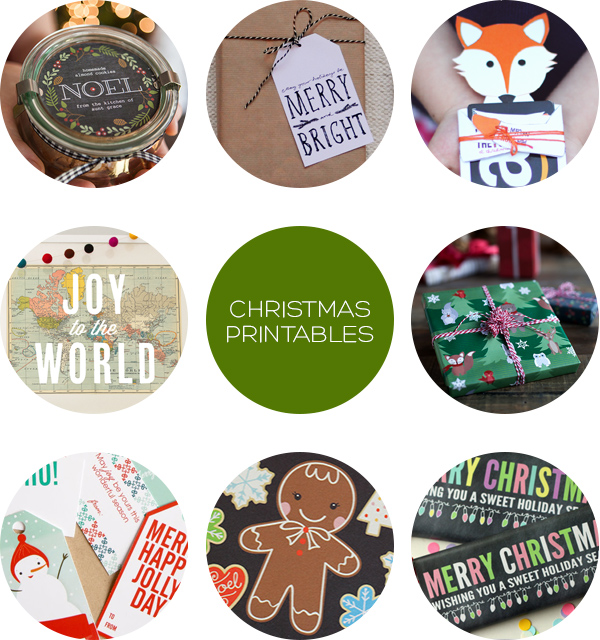 Christmas Printables Roundup on Squirrelly Minds