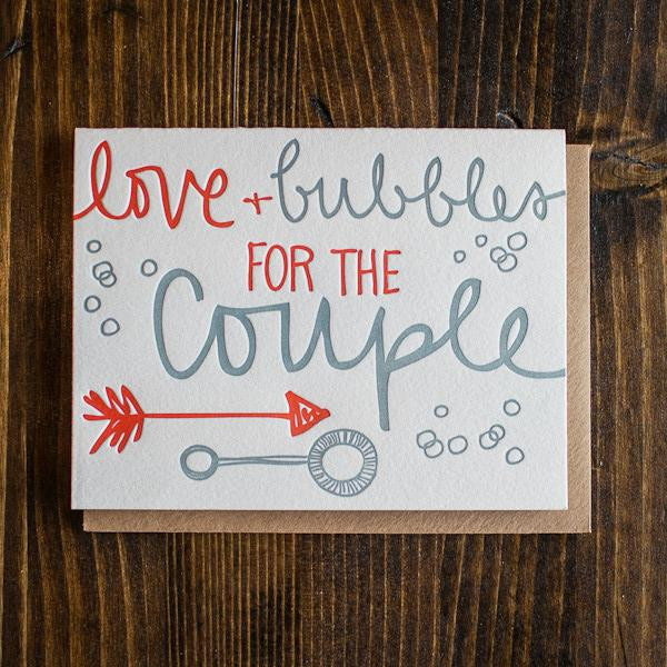 9th Letter Press Wedding Card