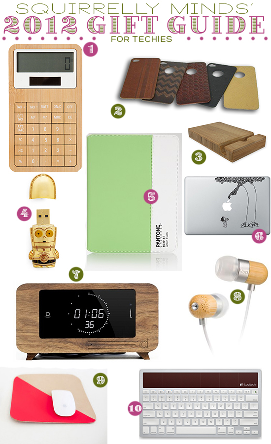 2012 Gift Guide for the Techie on Squirrelly Minds