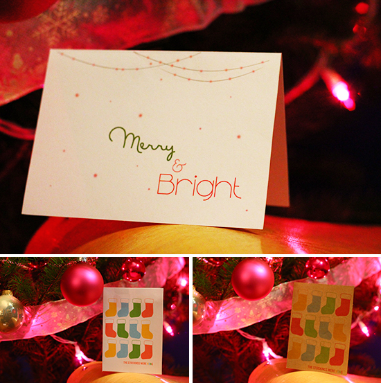 Free Printable Christmas Cards from Squirrelly Minds