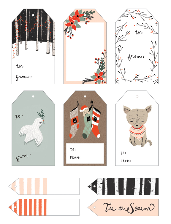 Free Holiday Gift Tag Printables from Kelli Murray