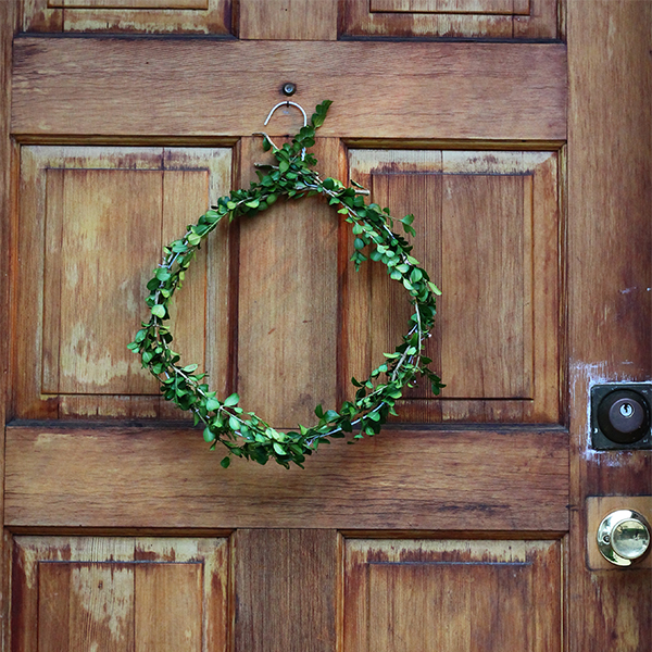 Boxwood Wreath DIY from Squirrelly Minds