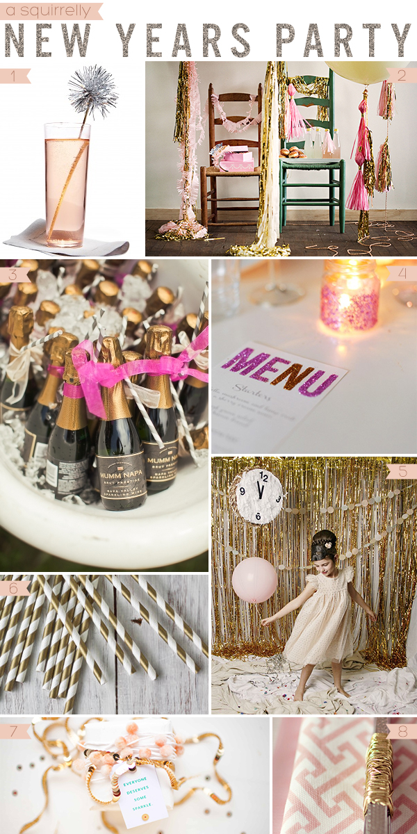 Sparkly New Years Party Inspiration from Squirrelly Minds