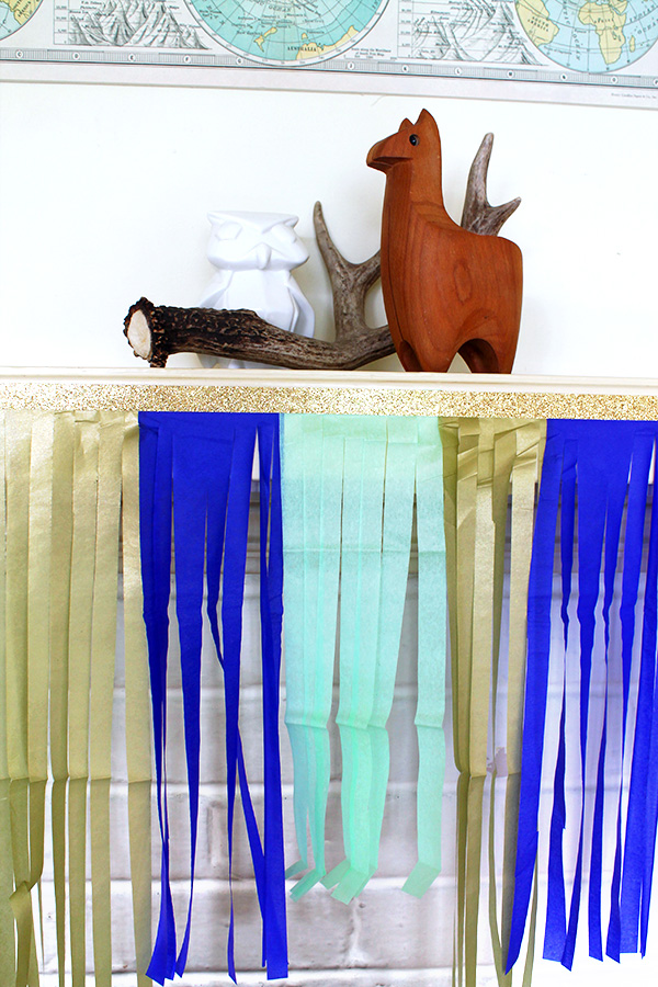 Mantel Fringe DIY | Squirrelly Minds