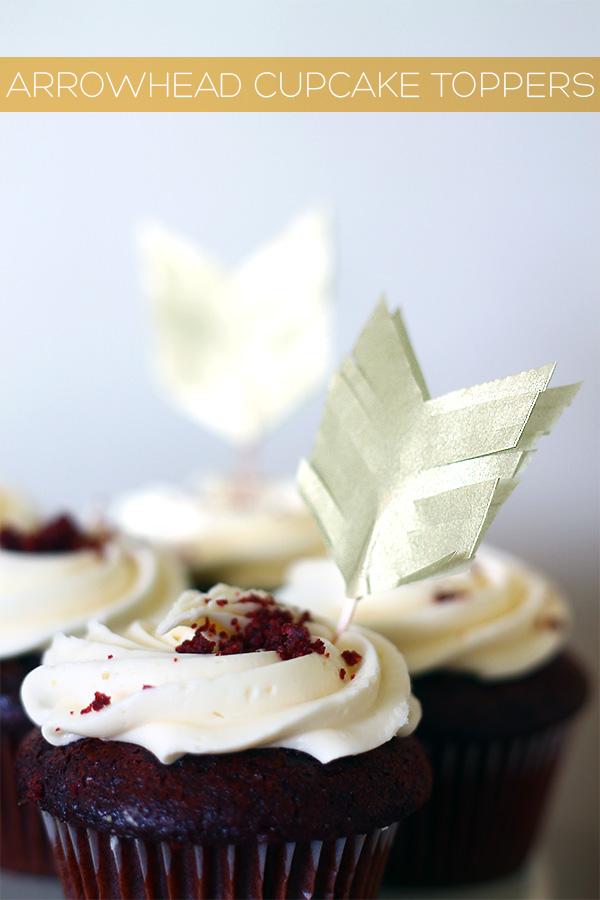 DIY arrowhead straw and cupcake toppers | Squirrelly Minds