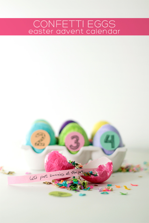 DIY Confetti Eggs Easter Advent Calendar | Squirrelly Minds