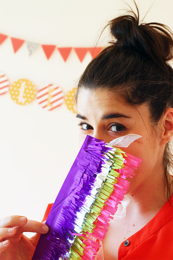 DIY Fringe Pinata Blindfold | Squirrelly Minds