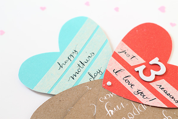 Heart fan card for mother's day | Squirrelly Minds