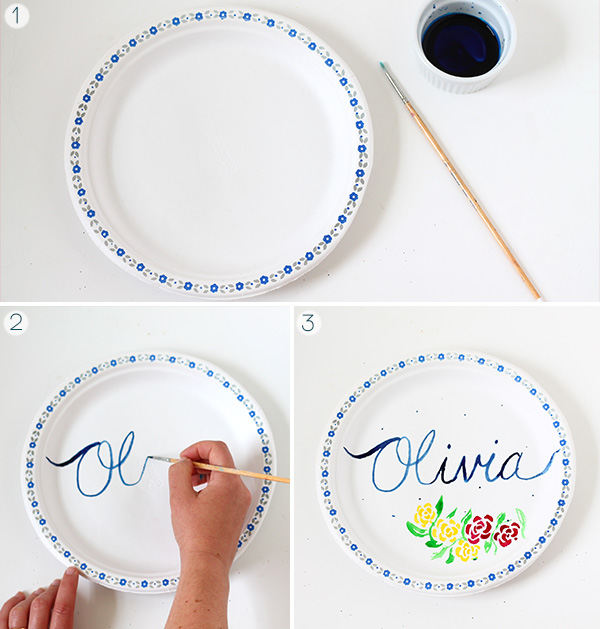 DIY Food Colouring Painted Plates | Squirrelly Minds