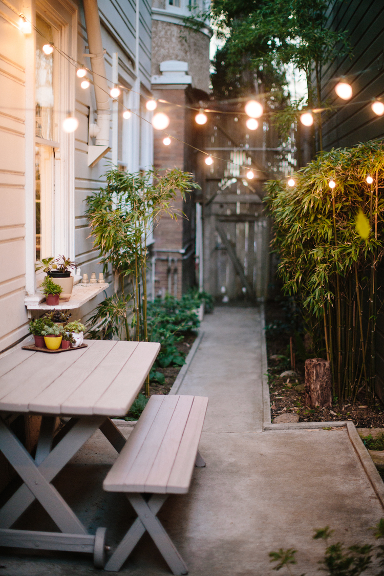 Patio string lights - This is Brick and Mortar | Squirrelly Minds