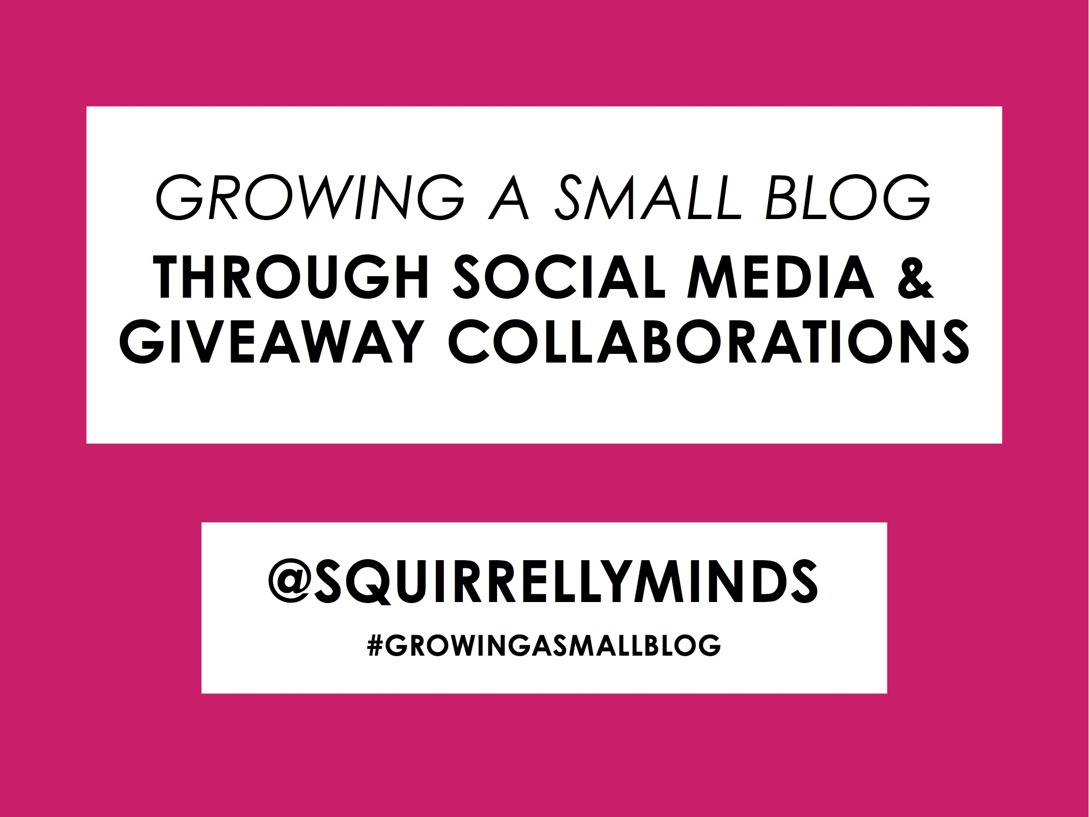 Growing a Small Blog Panel PDF download | Squirrelly Minds