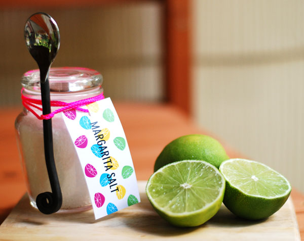 Margarita Salt Gift Tag Printable and Katie's Signature Margarita Recipe by Twin Stripe | Squirrelly Minds