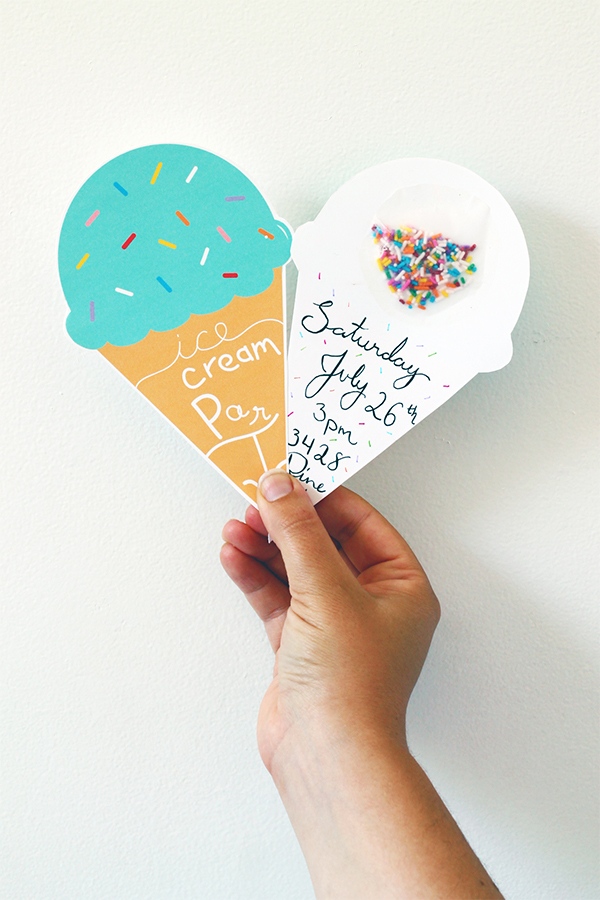 PrintDIY – Ice Cream Party Invites