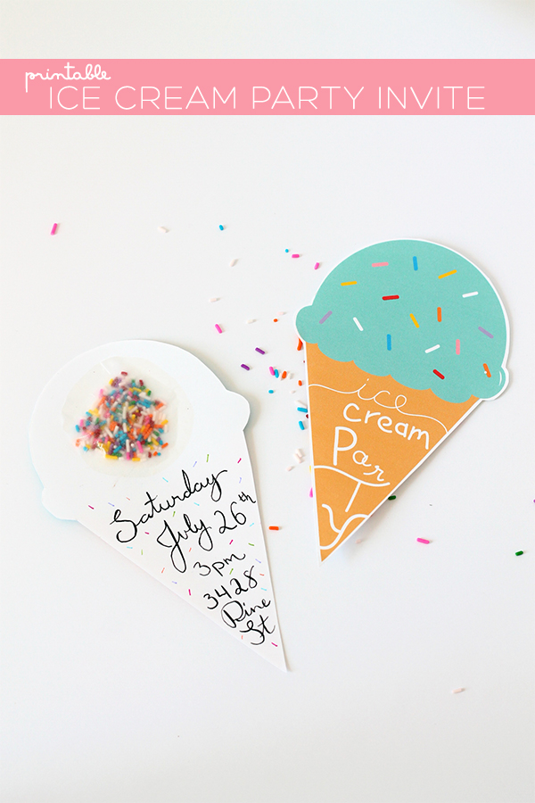 print diy printable ice cream party invites squirrelly minds