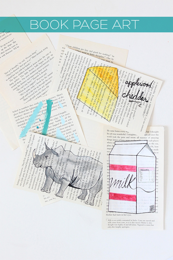 DIY Easy Book Page Art | Squirrelly Minds