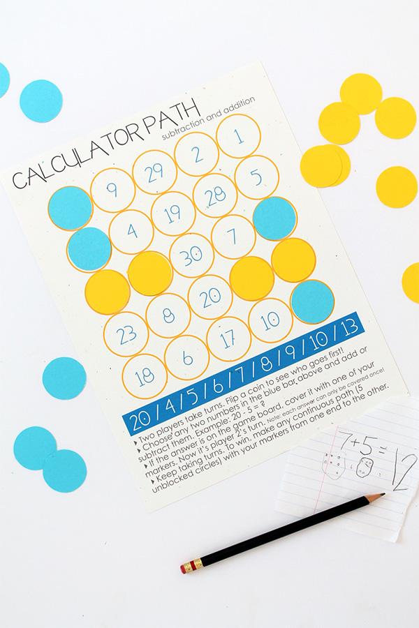 Math Game Printable | Squirrelly Minds