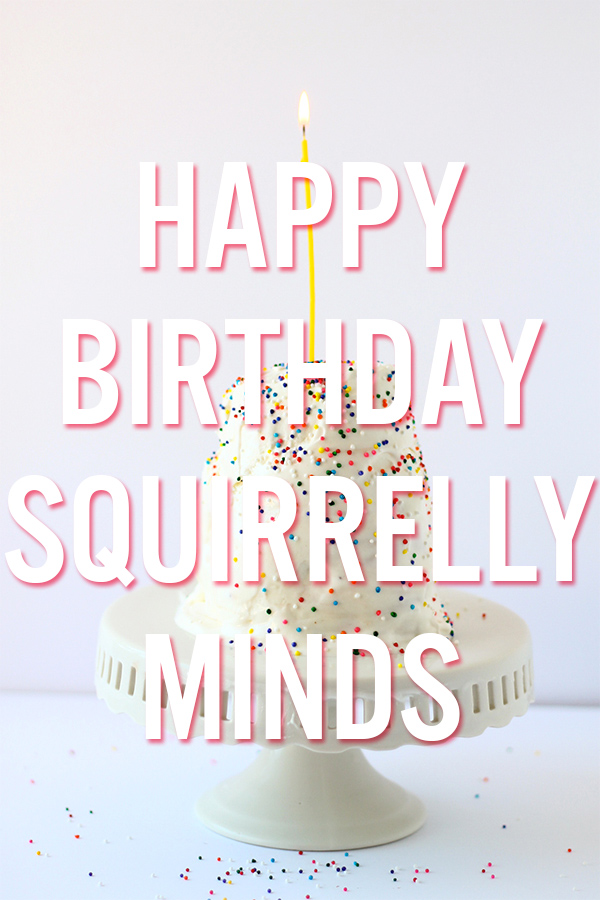 Squirrelly Minds Turns 3! (Ice cream donut cake pictured) | Squirrelly Minds