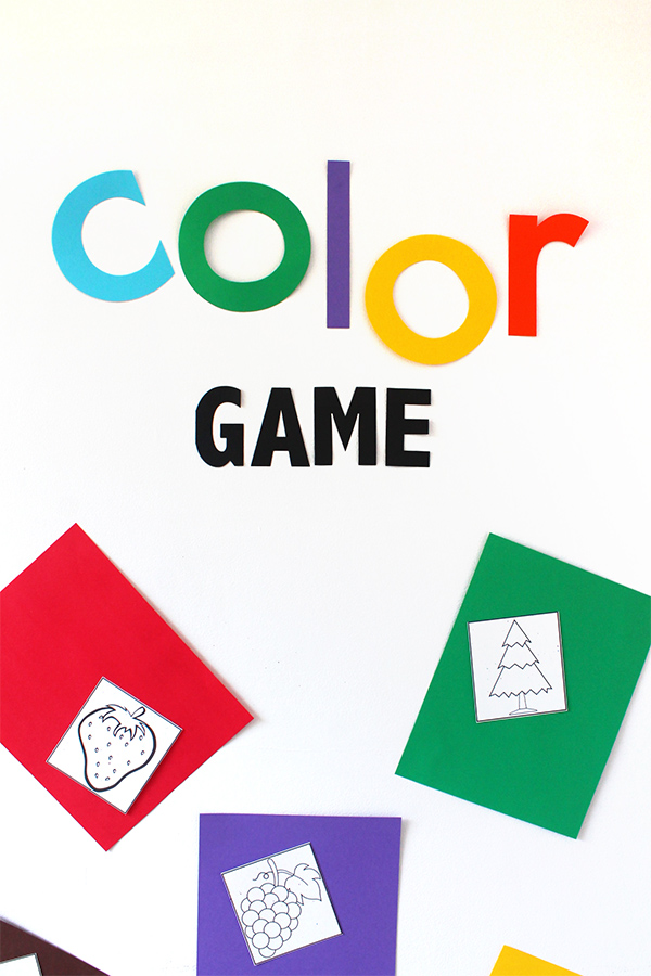 Color Game Printable with Astrobrights | Squirrelly Minds