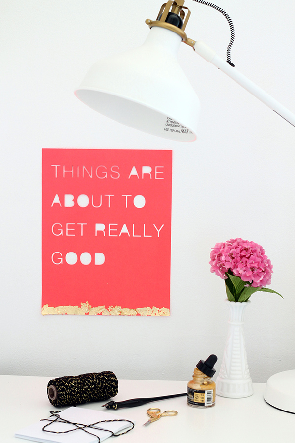 DIY Cut Out Typography Posters | Squirrelly Minds