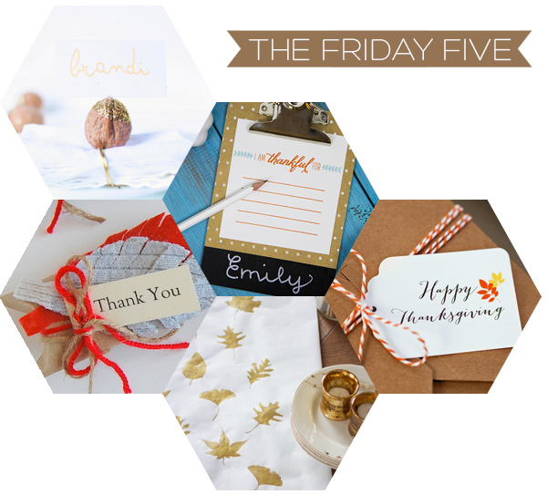 The Friday Five - Thanksgiving DIY's | Squirrelly Minds