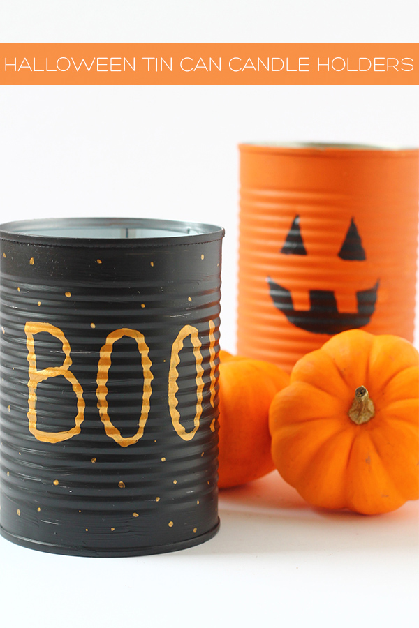 DIY Halloween Tin Can Candleholders | Squirrelly Minds