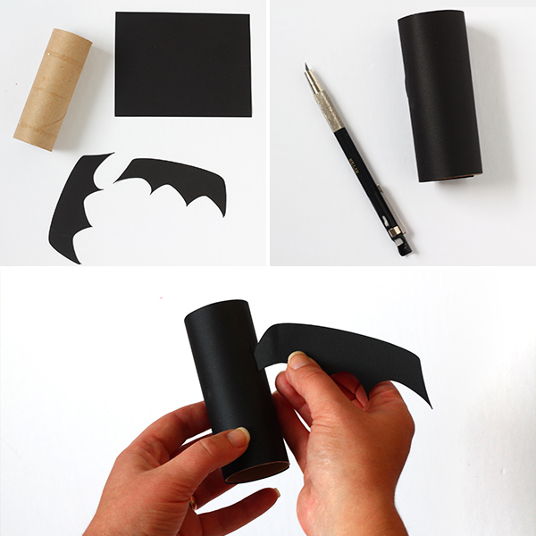 5 Minute DIY TP Roll Bats - steps | Squirrelly Minds