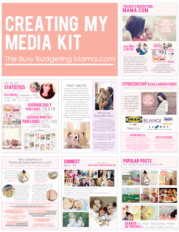 Media Kit Example from The Busy Budgeting Mama