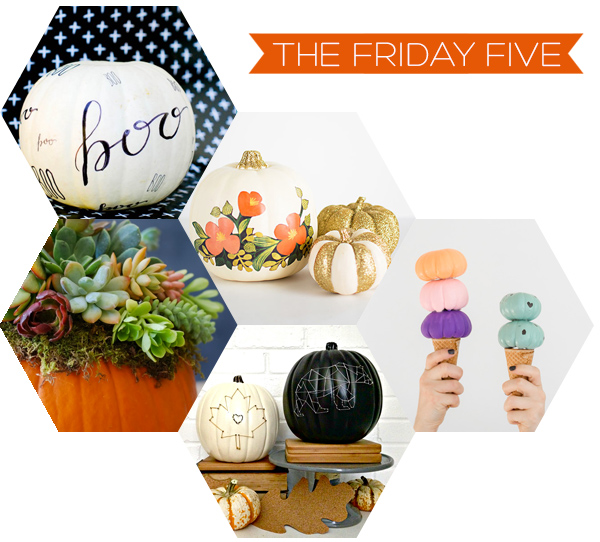 The Friday Five - Pumpkin DIY's | Squirrelly Minds