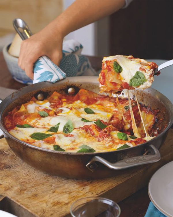 #pinmakeeat 9 | Squirrelly Minds - Skillet Lasagna from Boston Globe