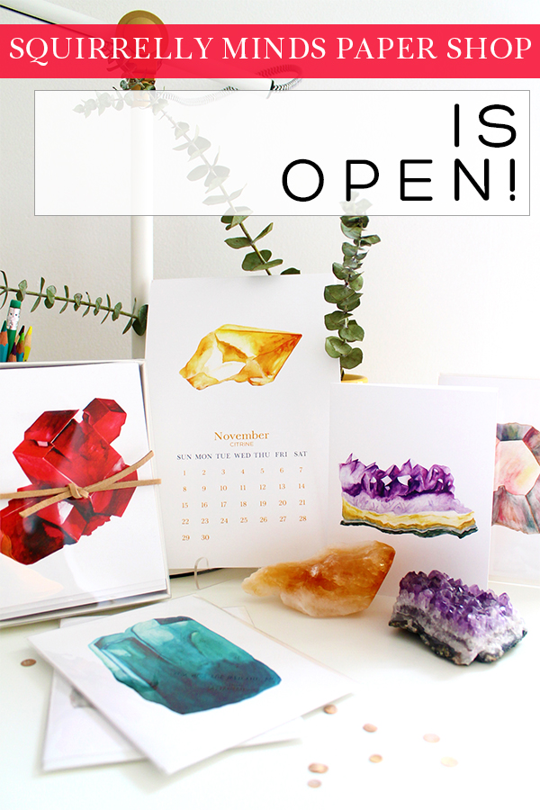 Squirrelly Minds Print Shop Opening | Squirrelly Minds
