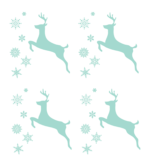 Party Hop! The Season to Sparkle - Reindeer Napkin Free Printable  | Squirrelly Minds