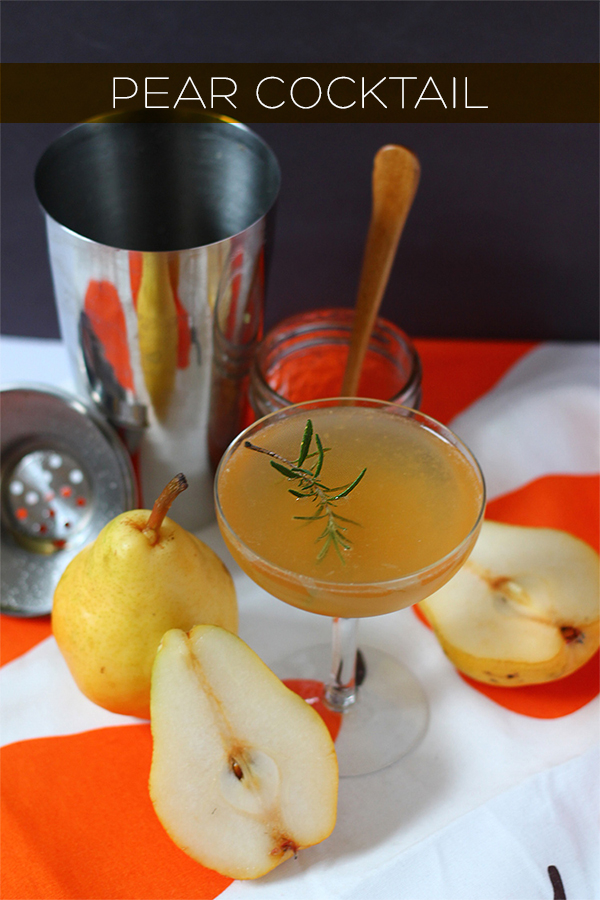 Pear Cocktail and Simple Syrup Recipe on Wayfair | Squirrelly Minds
