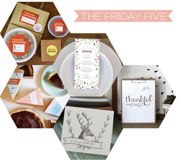The Friday Five - Thanksgiving Printables | Squirrelly Minds