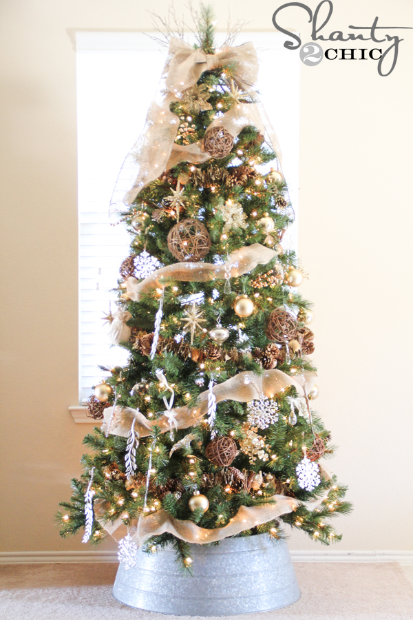 Top 10 Natural Glam Christmas Trees - Shanty 2 Chic | Squirrelly Minds