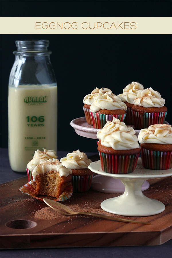 Eggnog Cupcakes | Squirrelly Minds