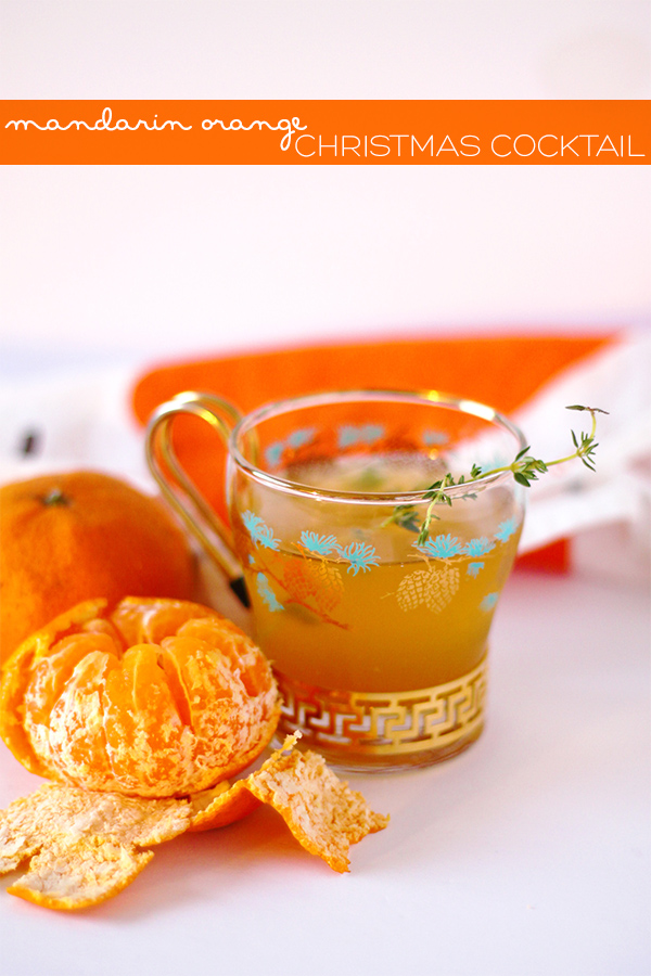 Mandarin Orange Christmas Cocktail | Squirrelly Minds
