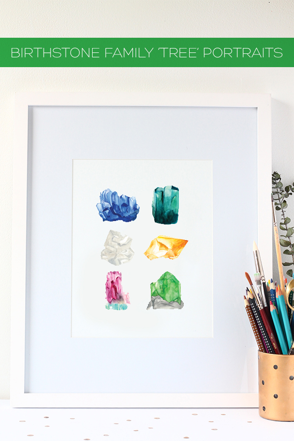 Birthstone Family Tree - New in the Shop! | Squirrelly Minds
