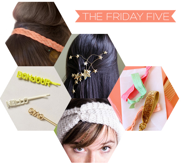 The Friday Five - DIY Hair Accessories | Squirrelly Minds