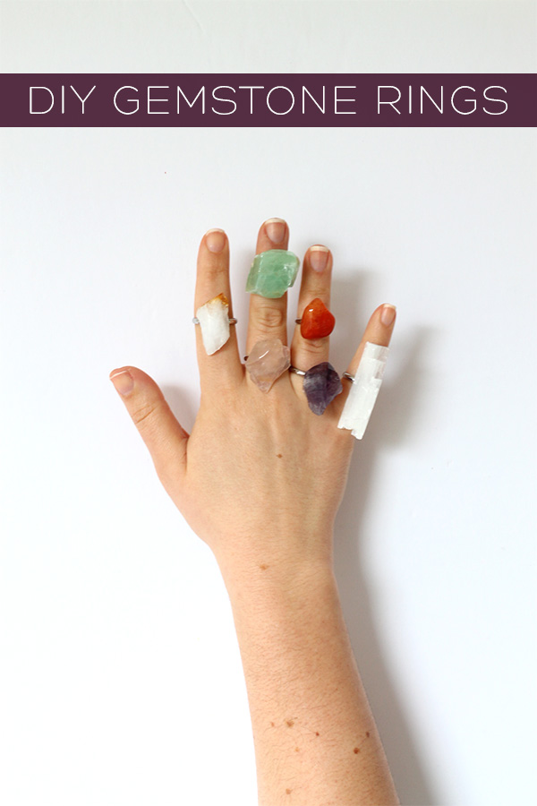 DIY Gemstone Rings | Squirrelly Minds