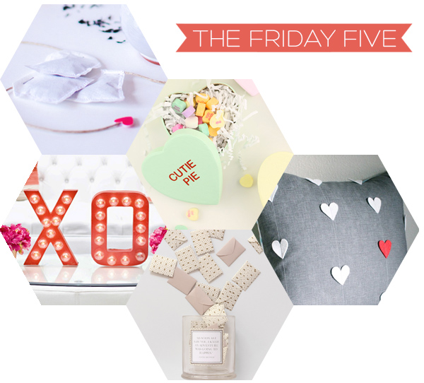 The Friday Five - Valentine's DIYs | Squirrelly Minds