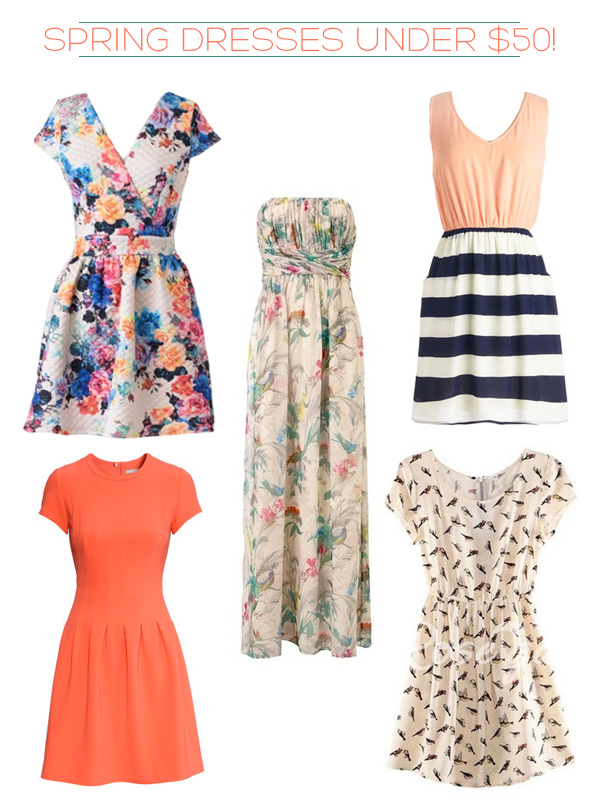 5 spring dresses under $50 | Squirrelly Minds