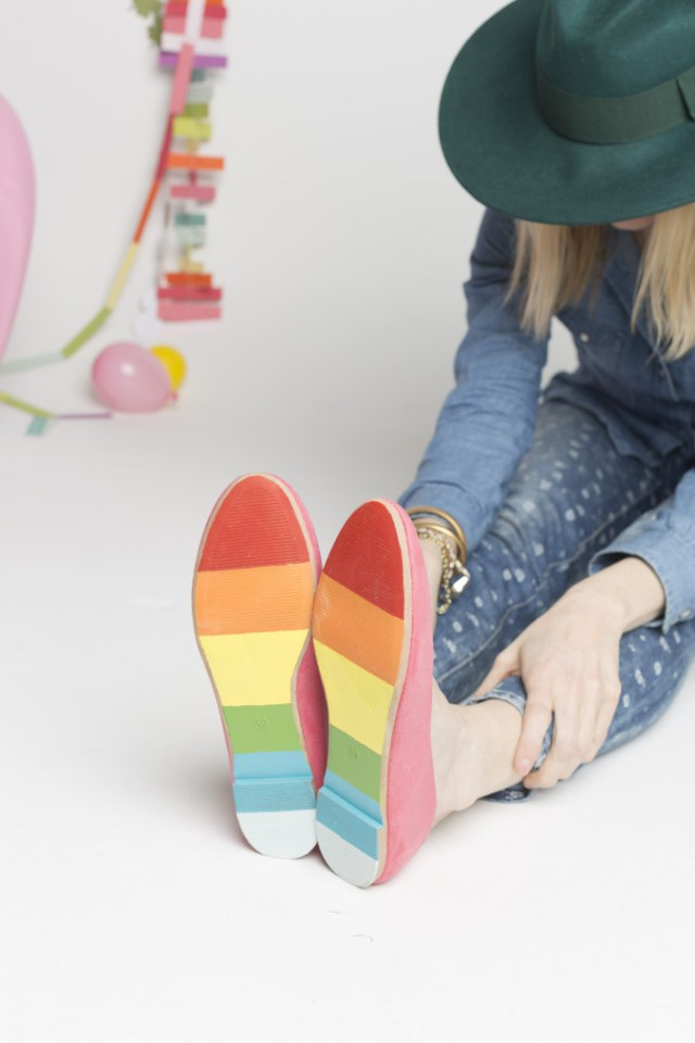 Top 10 St. Patrick's DIY's of 2015 - Painted shoes from The House That Lars Built