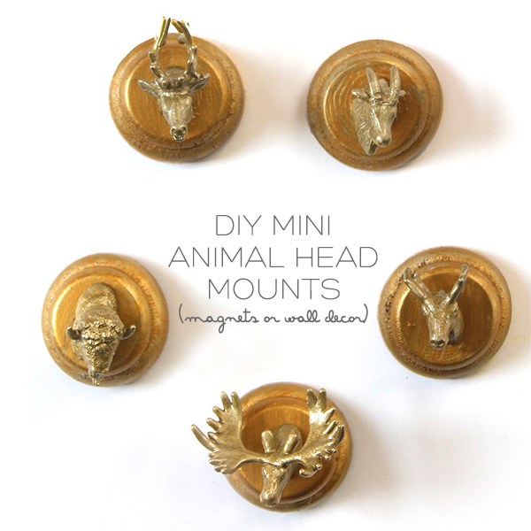 DIY Mini Animal Head Mounts | Squirrelly Minds
