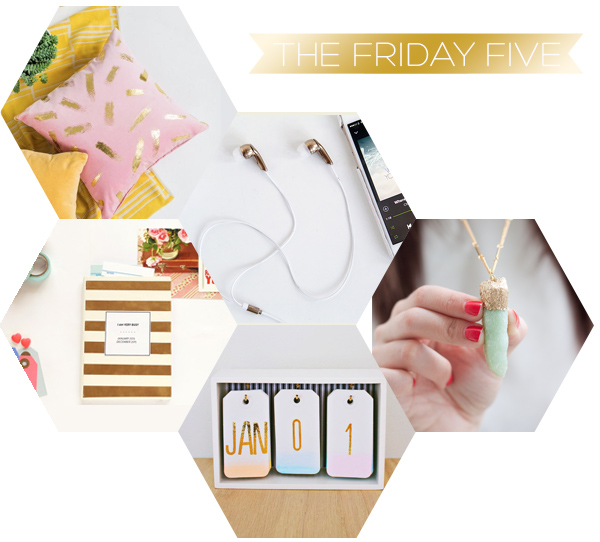 The Friday Five - Gold DIY's | Squirrelly Minds