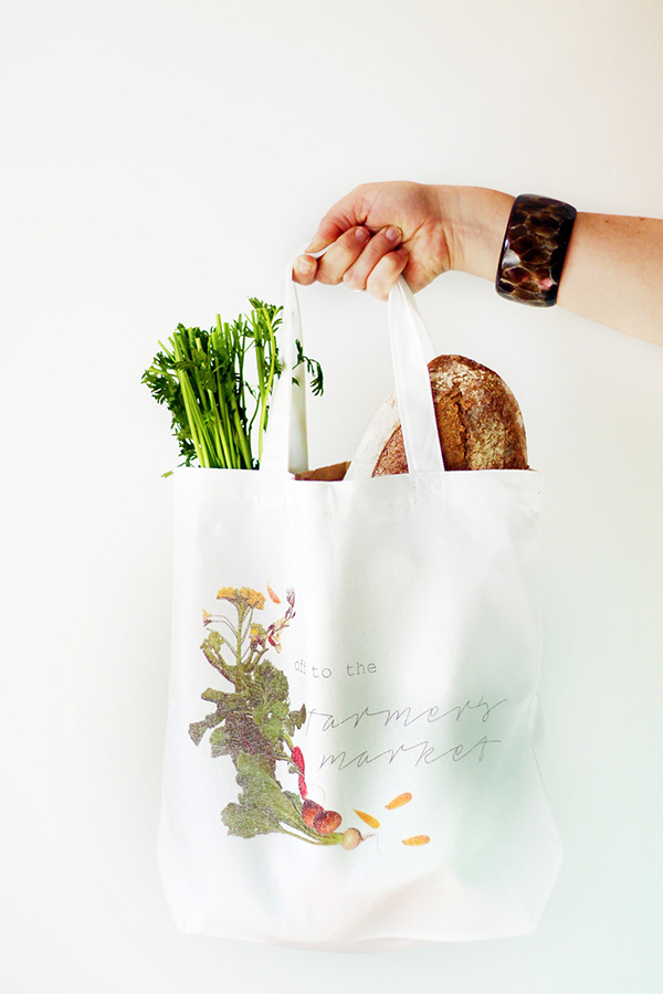 Printable Farmer's Market Tote Bag with Sprout by HP | Squirrelly Minds