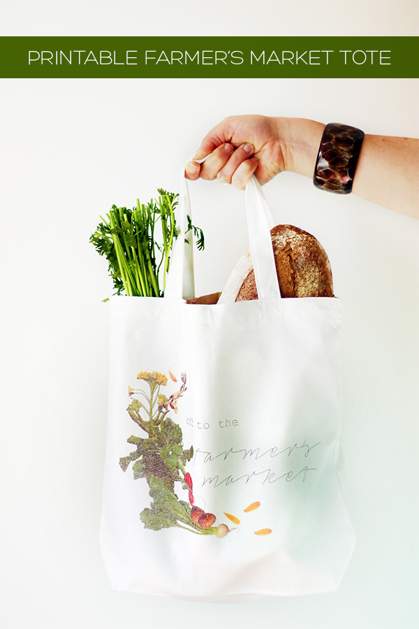 Printable Farmer's Market Tote Bag | Squirrelly Minds