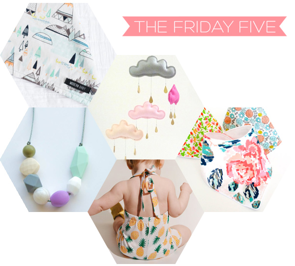 The Friday Five - Best Canadian Etsy Baby Shops | Squirrelly Minds