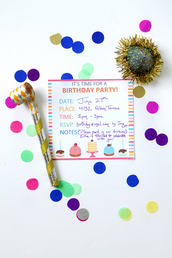 Craft Party Invitation Printable with Sprout by HP | Squirrelly Minds